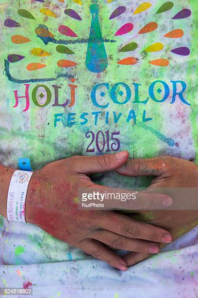 Holi Color Festival Jakarta 2015 TShirt Holi color festival that was held in East Park Bung Karno Sport Center held for young people to have fun and...