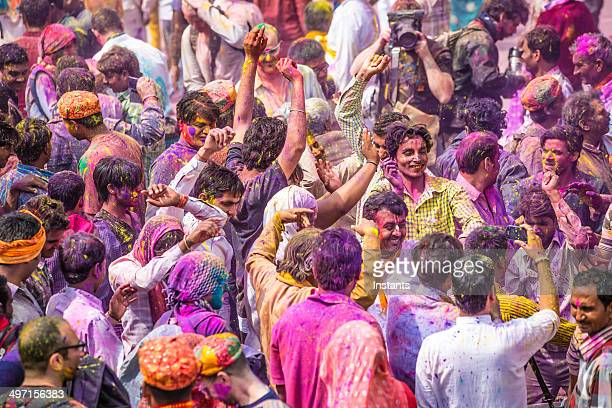 Holi Day Crowd