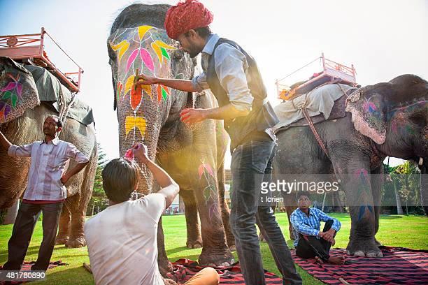 ホリ(春祭)の象が魅力的です。