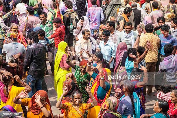 Holi Festival crowd