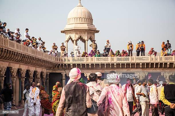 Holi Festival crowd