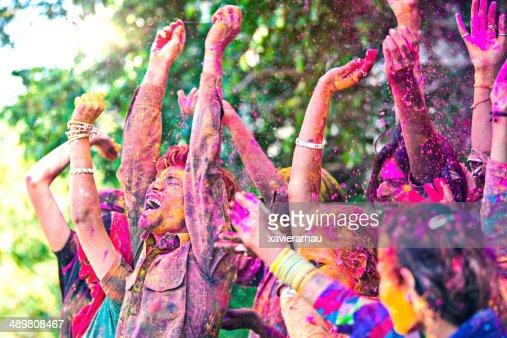 Holi fun celebrations