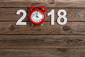 Holiday background and new year clock