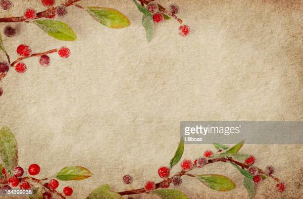 Holiday Border on Grunge