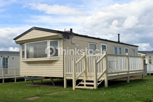 Holiday caravan or mobile home stock photo thinkstock for Mobile home park design ideas
