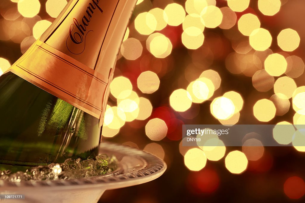 Holiday Champagne : Stock Photo