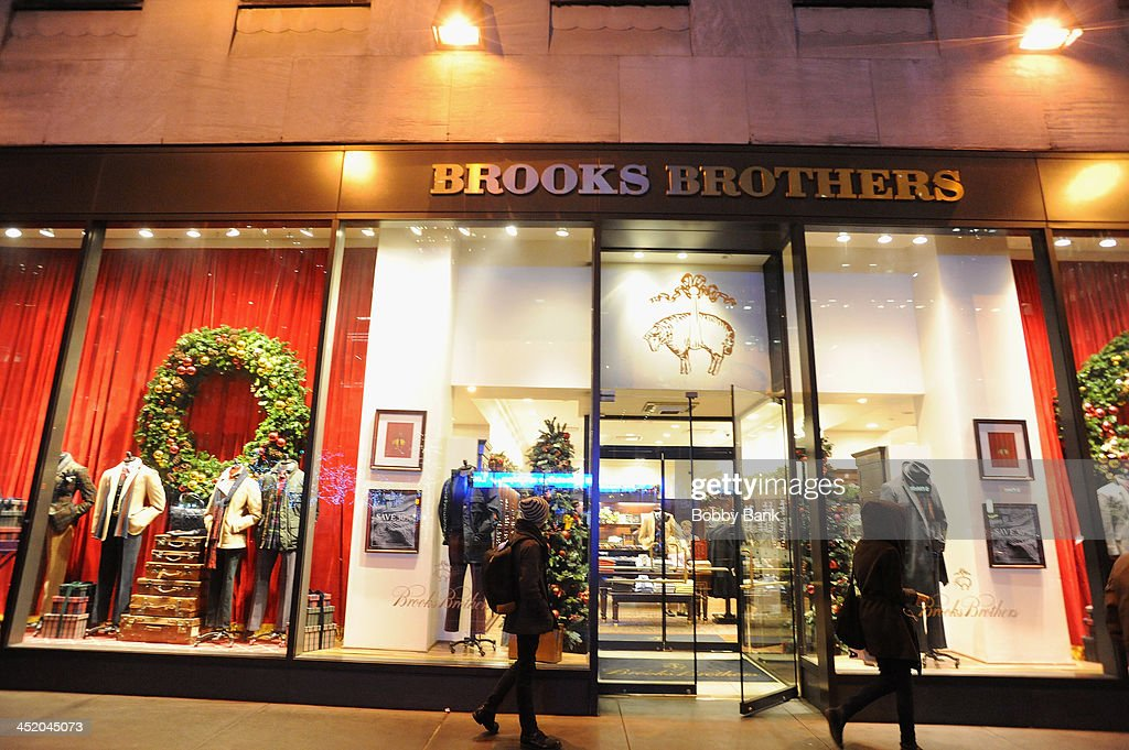 2013 Holiday Decorations at Brooks Brothers store on November 25, 2013 in New York City.