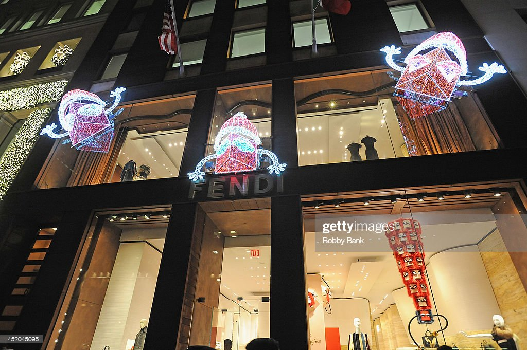 2013 Holiday Decorations at Fendi 5th Avenue store on November 25, 2013 in New York City.