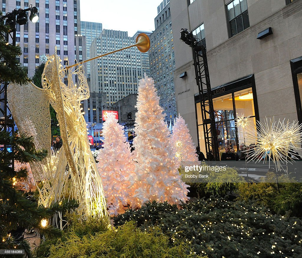 Holiday decorations at Rockefeller Center on December 3, 2013 in New York City.