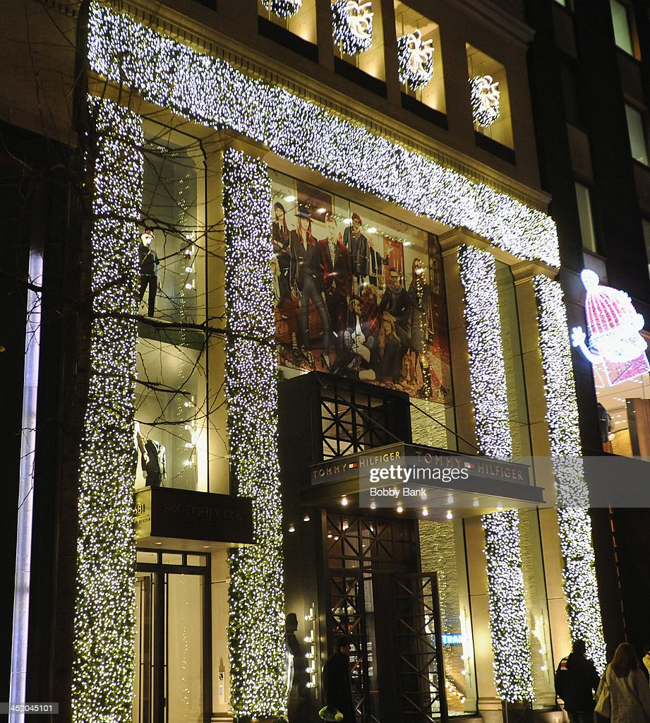 2013 Holiday Decorations at Tommy Hilfiger 5th Avenue store on November 25, 2013 in New York City.