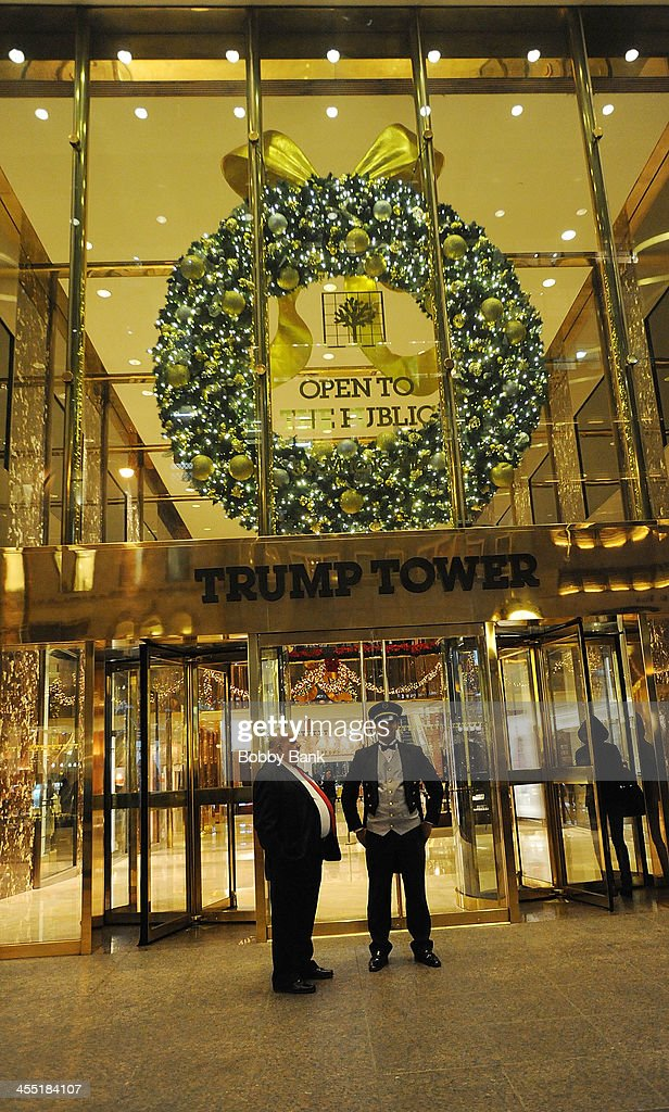 Holiday decorations at Trump Tower on December 3, 2013 in New York City.
