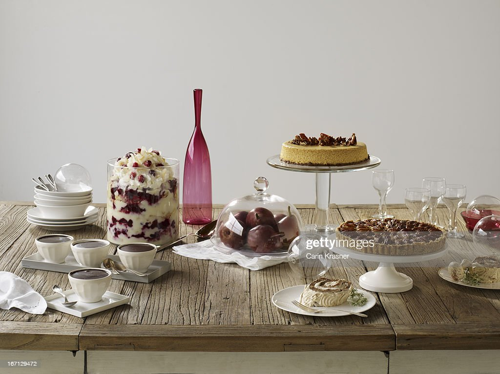 Holiday Dessert Tablescape : Stock Photo