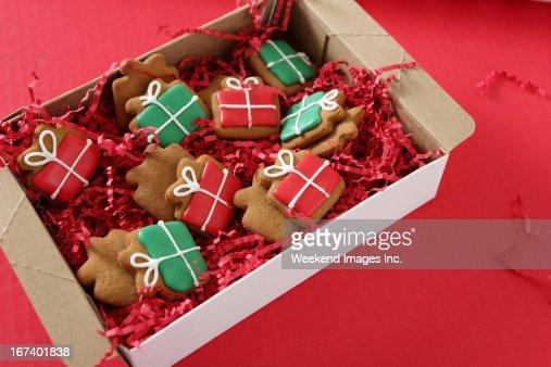 Holiday handmade cookies : Stock Photo