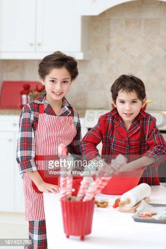 Holiday kitchen : Stock Photo