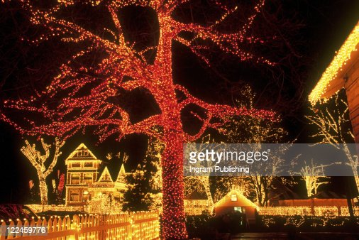 Holiday Lights in Portland Oregon : Foto de stock