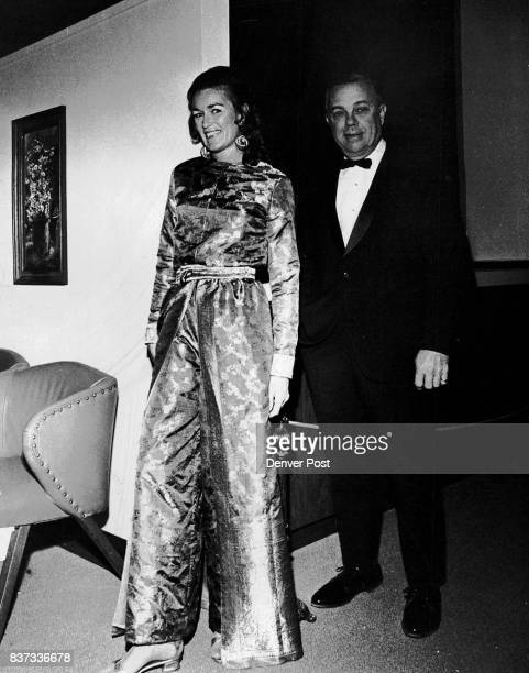 Holiday merrymakers are the Ivor Carl Petersons She wore a shimmering green and gold sari pantsuit to the blacktie cocktail supper given by the...