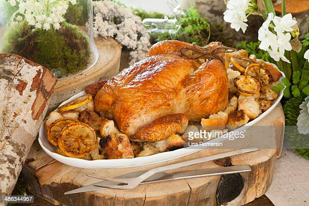 Holiday party platter w/lemon chicken & stuffing