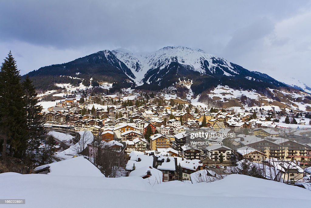 Holiday resort Klosters in Grisons, Switzerland