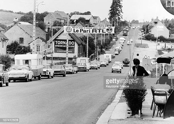 Holiday Traffic Jam At France In Europe On August 1968