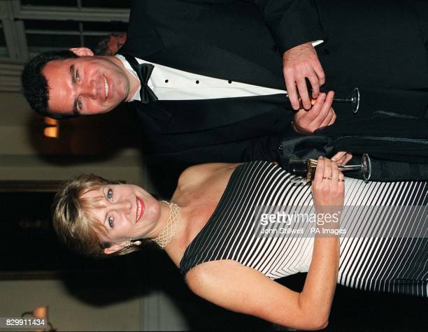 Holiday TV show presenter Jill Dando was accompanied to the Royal Gala Premier of Goodbye Girl at The Albery Theatre St Martins Lane in London this...