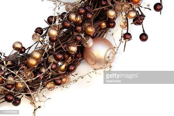 Corona de Navidad primer plano