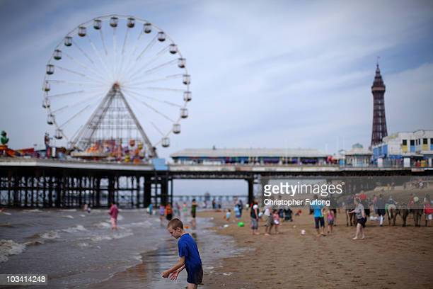 Holidaymakers enjoy a traditional day at the seaside as they take in the attractions of Britain's favourite seaside resort on August 16 2010 in...