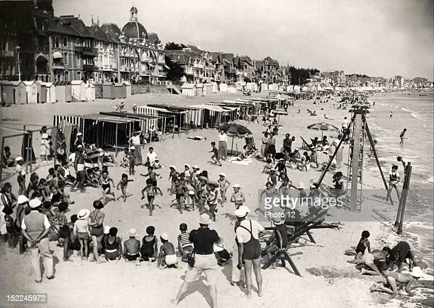 Holidays at La Baule France In the foreground children have organized a race August 25 Private Collection