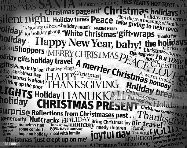 Holidays headline collage