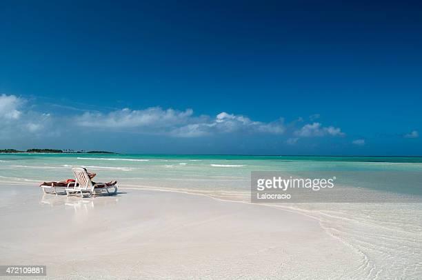 Holidays in a Caribbean beach