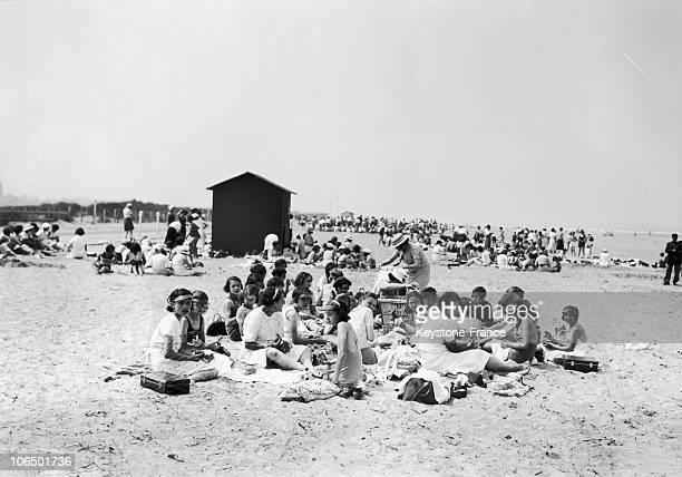Holidays On Seashore In Deauviille In 1936