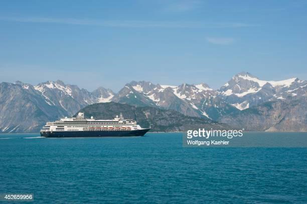 Holland America cruise ship Ms Zaandam in Glacier Bay National Park Alaska USA