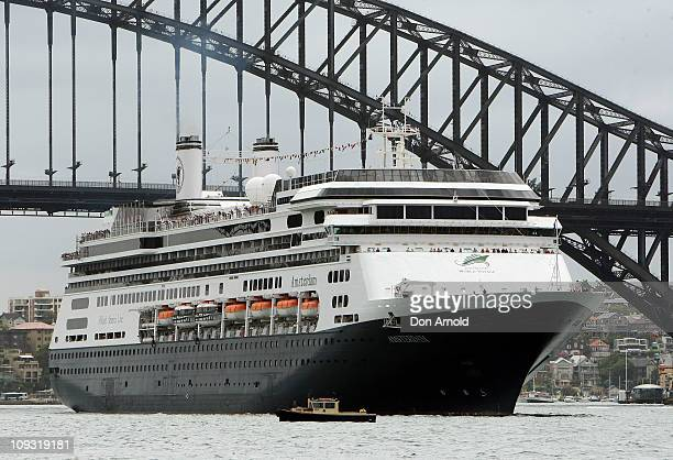 Holland America president and CEO Stein Kruse sails aboard Holland America's flagship vessel the ms Amsterdam as it departs from Campbell's Cove in...