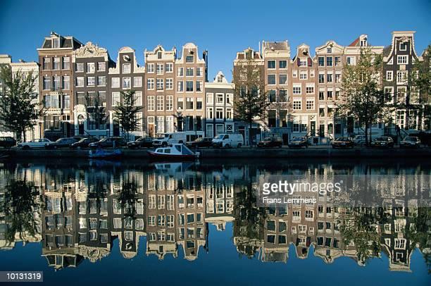 Holland, canal singel houses noord