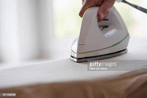 Holland, Goirle, woman ironing
