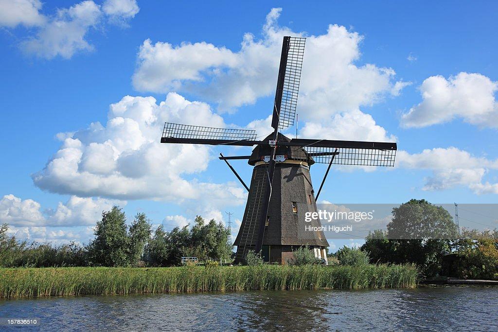 Holland, Kinderdijk : Stock Photo