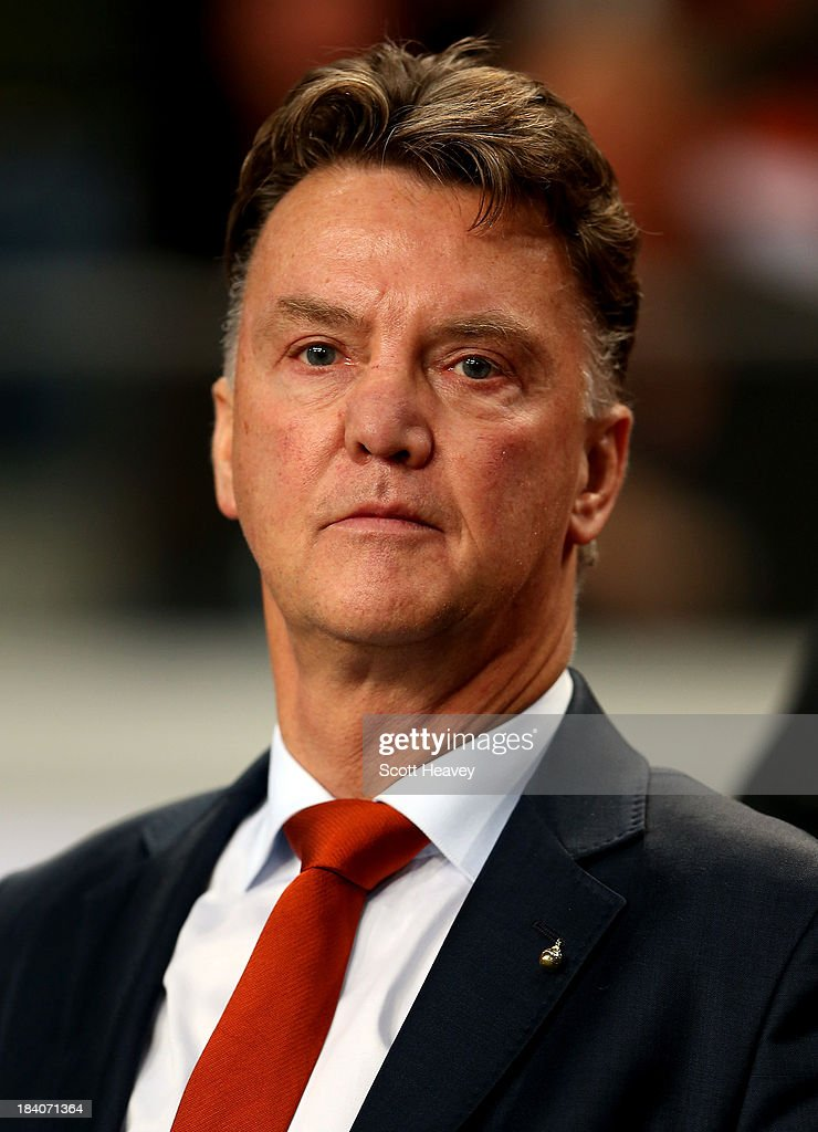 Holland manager Luis van Gaal during the FIFA 2014 World Cup Qualifing match between Holland and Hungary at Amsterdam Arena on October 11, 2013 in Amsterdam, Netherlands.