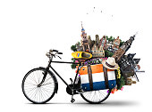 Holland, a city bicycle with Dutch attractions