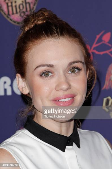 Holland Roden attends Just Jared's homecoming dance at El Rey Theatre on November 20 2014 in Los Angeles California