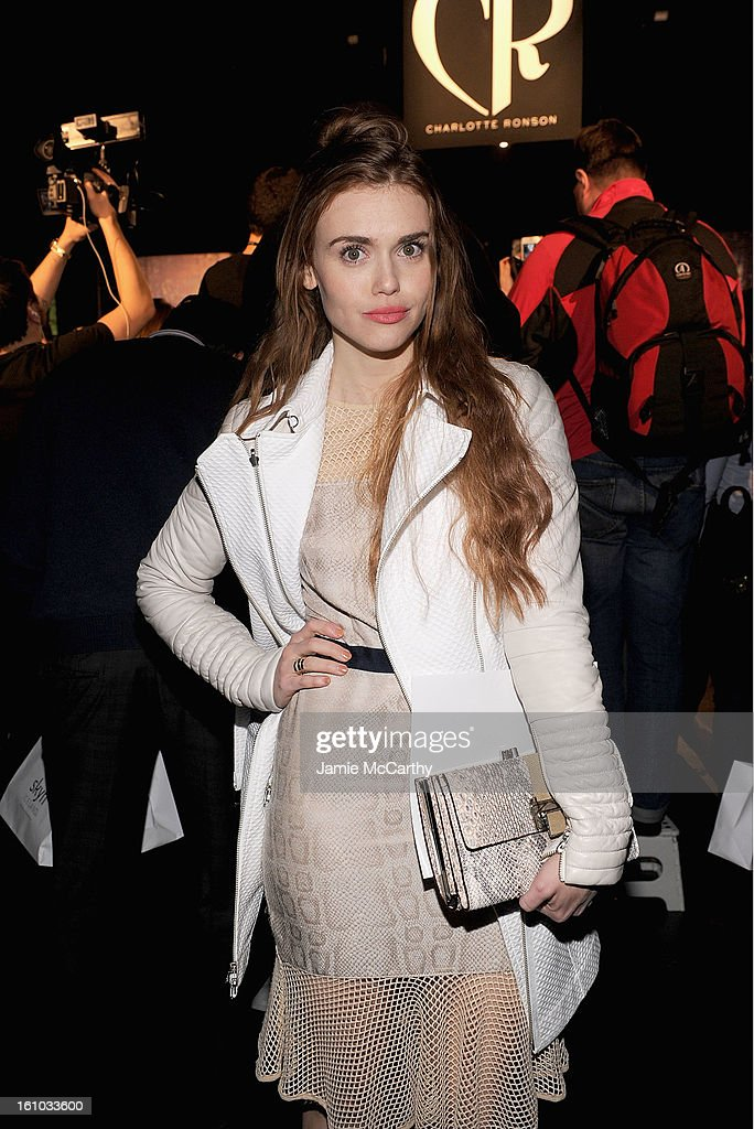 Holland Roden attends the Charlotte Ronson Fall 2013 Mercedes-Benz Fashion Week Presentation at the Box at Lincoln Center on February 8, 2013 in New York City.