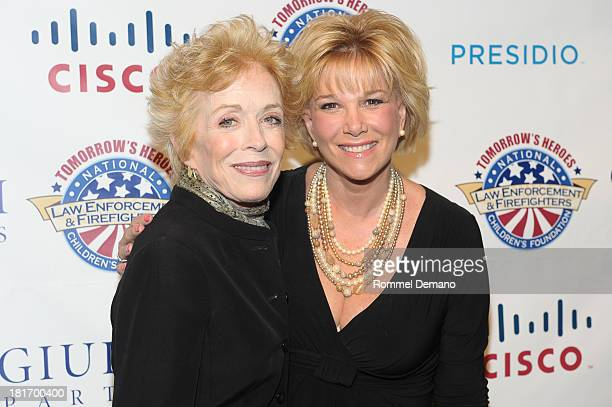 Holland Taylor and Joan Lunden attend the 2013 Children's Foundation Hero Awards Gala at The Edison Ballroom on September 23 2013 in New York City