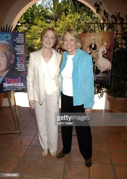 Holland Taylor and Liz Smith during Liz Smith Dishes with AARP The Magazine and Hollywood's Hottest Bold Faced Names at Hotel BelAir in Bel Air...