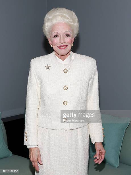 Holland Taylor attends 'Ann' Broadway Rehearsal Performance at Vivian Beaumont Theatre at Lincoln Center on February 16 2013 in New York City