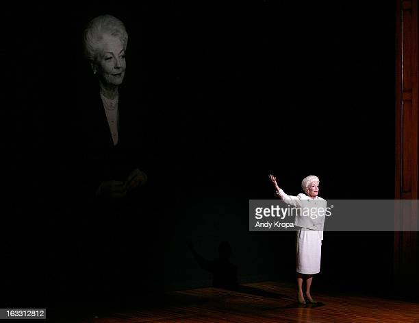 Holland Taylor attends the opening night of 'Ann' at Vivian Beaumont Theatre at Lincoln Center on March 7 2013 in New York City