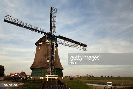 オランダの風車の田園風景(XXXL