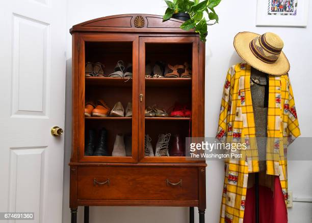 Holley Simmons has one room she uses as a dressing room April 17 2017 in Washington DC She uses a hutch to 'display' her shoes