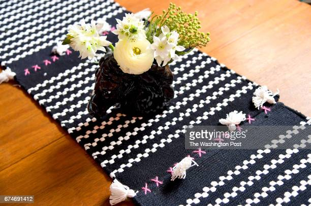 Holley Simmons made the table runner out of placemats and used the remaining tassels to make a banner April 17 2017 in Washington DC