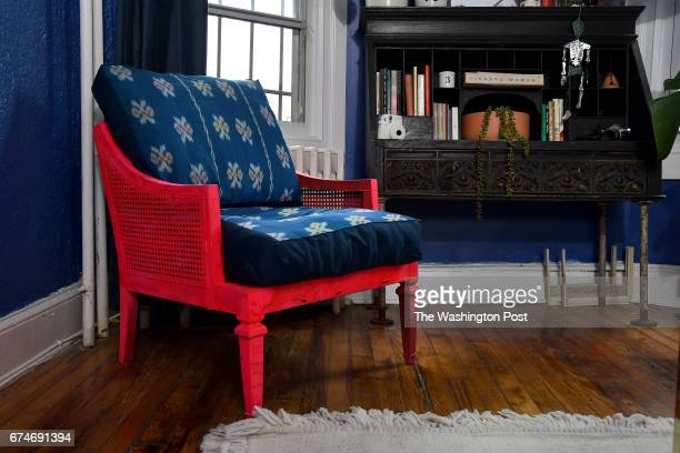 Holley Simmons says be resourceful and know good bones The blue chair was originally $40 and she paid to have it reupholstered where it now has a...