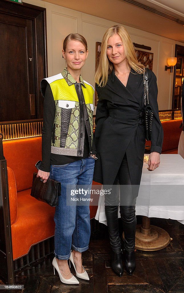 Holli Rogers and Elizabeth von Guttman attend as Net-A-Porter host private dinner to celebrate the launch of the Proenza Schouler excluisve capsule collection on March 26, 2013 in London, England.