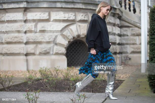 Holli Rogers outside the Christopher Kane show at Tate Britain on day 4 of the London Fashion Week February 2017 collections on February 20 2017 in...