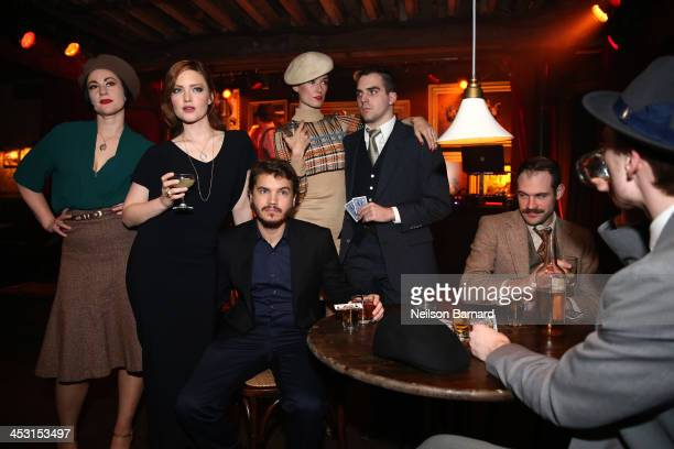 Holliday Grainger and Emile Hirsch attend the 'Bonnie And Clyde' Series New York Premiere at The McKittrick Hotel on December 2 2013 in New York City